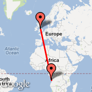Manchester (Ringway International Airport, MAN) - Luanda (4 de Fevereiro, LAD)