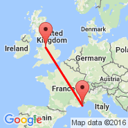 Manchester (Ringway International Airport, MAN) - Sophia Antipolis (SXD)