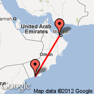 Muskat (Seeb, MCT) - Salalah (Salalah International Airport, SLL)