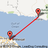 Muscat (Seeb, MCT) - Chabahar (Chah-Bahar, ZBR)