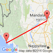 Mandalay (Mandalay International, MDL) - Sittwe (Civil, AKY)
