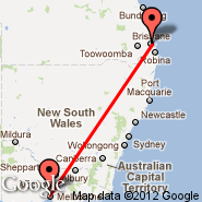 Melbourne (Tullamarine, MEL) - Brisbane (Brisbane International, BNE)