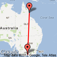 Melbourne (Tullamarine, MEL) - Cairns (Cairns International Airport, CNS)