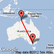 Melbourne (Tullamarine, MEL) - Darwin (Darwin International Airport, DRW)