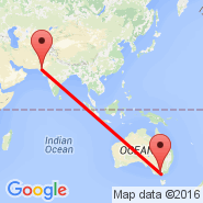 Melbourne (Tullamarine, MEL) - Hyderabad (HDD)