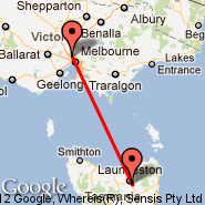 Melbourne (Tullamarine, MEL) - Launceston (LST)