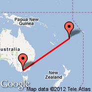 Melbourne (Tullamarine, MEL) - Nadi (Nadi International, NAN)