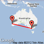 Melbourne (Tullamarine, MEL) - Perth (Perth International, PER)
