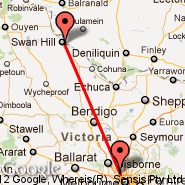 Melbourne (Tullamarine, MEL) - Swan Hill (SWH)