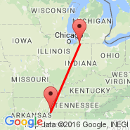 Memphis (Memphis International, MEM) - South Bend (South Bend Regional, SBN)