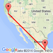 Mexico City (Internacional Benito Juarez, MEX) - Sacramento (Sacramento International, SMF)