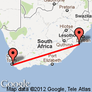 Margate (MGH) - Cape Town (Cape Town International, CPT)
