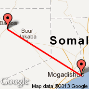 Mogadishu (Mogadishu International Airport, MGQ) - Baidoa (BIB)