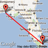 Miami (Miami International Airport, MIA) - Destin (Destin-Fort Walton Beach Airport, DSI)