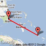Miami (Miami International Airport, MIA) - Long Island (Deadmans Cay, LGI)