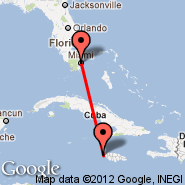 Miami (Miami International Airport, MIA) - Negril (NEG)