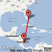 Miami (Miami International Airport, MIA) - Corn Island (RNI)