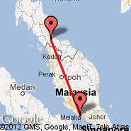 Malacca (Batu Berendam, MKZ) - Hat Yai (Hat Yai International Airport, HDY)