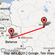 Moscow (Metropolitan Area, MOW) - Minsk (Minsk International 2, MSQ)