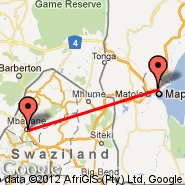 Maputo (Maputo International, MPM) - Mbabane (QMN)