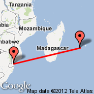 Maputo (Maputo International, MPM) - Saint-Denis/Reunion (Gillot, RUN)