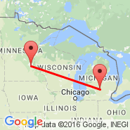Minneapolis (Minneapolis - St. Paul Intl, MSP) - Lansing (Capital City, LAN)