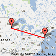 Minneapolis (Minneapolis - St. Paul Intl, MSP) - New York (Metropolitan Area, NYC)