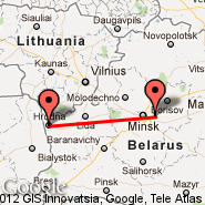 Minsk (Minsk International 2, MSQ) - Grodno (Grodna, GNA)