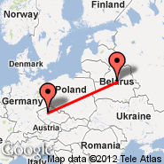 Minsk (Minsk International 2, MSQ) - Praga (Prague - Ruzyne International, PRG)