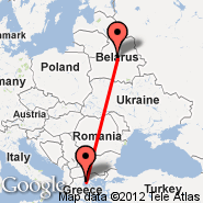 Minsk (Minsk International 2, MSQ) - Solun (Macedonia International, SKG)
