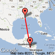 New Orleans (Louis Armstrong New Orléans International Airport, MSY) - Tegucigalpa (Toncontin, TGU)