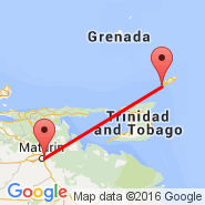 Maturin (Quiriquire, MUN) - Tobago (Crown Point Airport, TAB)