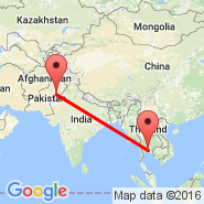 Multan (Multan International, MUX) - Bangkok (Suvarnabhumi International, BKK)