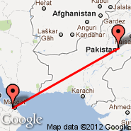 Multan (Multan International, MUX) - Muskat (Seeb, MCT)