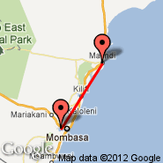Malindi (MYD) - Mombasa (Moi International, MBA)