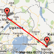 Nairobi (Jomo Kenyatta International, NBO) - Arua (RUA)