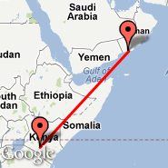 Nairobi (Jomo Kenyatta International, NBO) - Salalah (Salalah International Airport, SLL)