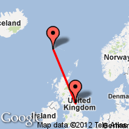 Newcastle (Newcastle Airport, NCL) - Faroe Islands (Vagar, FAE)