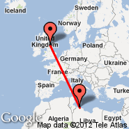 Newcastle (Newcastle Airport, NCL) - Tripoli (International, TIP)