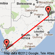 Nelspruit (Nelspruit International, NLP) - Cape Town (Cape Town International, CPT)