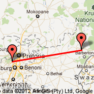 Nelspruit (Nelspruit International, NLP) - Lanseria (HLA)