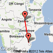 Nelspruit (Nelspruit International, NLP) - Ndola (NLA)