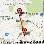 Nelspruit (Nelspruit International, NLP) - Mbabane (QMN)