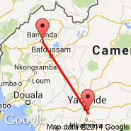 Yaounde (Nsimalen International, NSI) - Bamenda (BPC)
