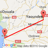 Yaounde (Nsimalen International, NSI) - Kribi (KBI)