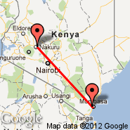 Nakuru (NUU) - Mombasa (Moi International, MBA)