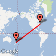 New York (Metropolitan Area, NYC) - Auckland (Auckland International, AKL)
