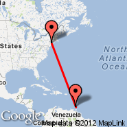 New York (Metropolitan Area, NYC) - Grenada (Point Salines International, GND)