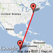 New York (Metropolitan Area, NYC) - Galapagos (Baltra, GPS)
