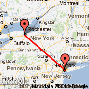 New York (Metropolitan Area, NYC) - Rochester (Greater Rochester International, ROC)